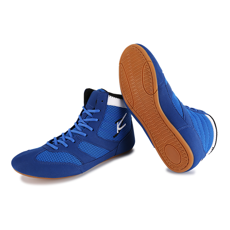 New Professional Boxing Wrestling Shoes Rubber Outsole Breathable Combat Sneakers Lace-up training fighting boots Plus