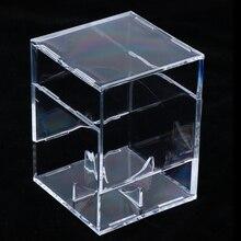 Лот 2 один бейсбольный Дисплей Чехол куб коробка памятная коробка держатель, прозрачный акриловый-3,15x3,15x3,15 дюйма