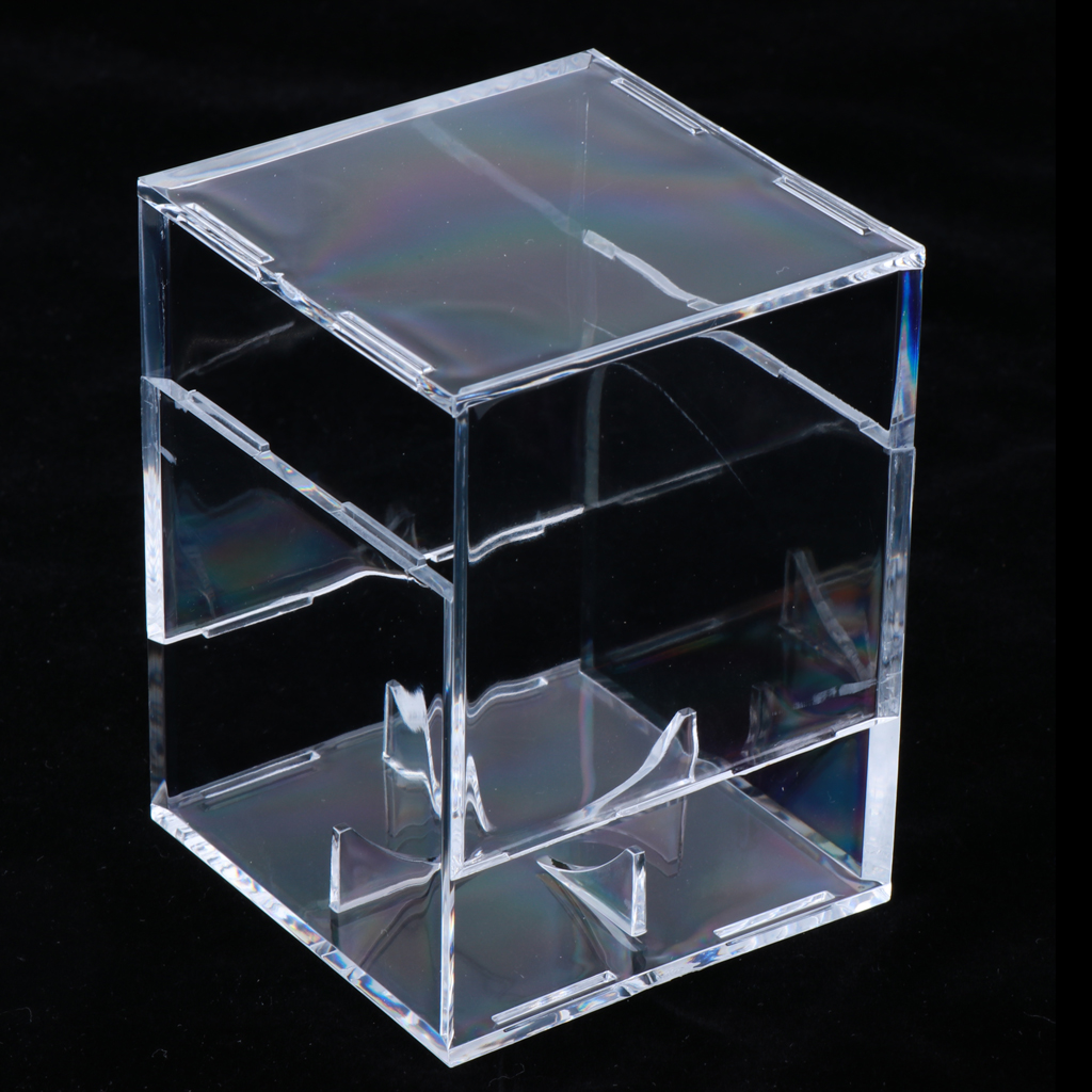 Lot 2 Single Baseball Display Case Cube Box Memorabilia Holder, Clear Acrylic - 3.15x3.15x3.15 Inch