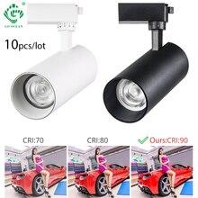 10W/20W/30W COB Track Light  LED Lights Spotlight Rail Spot Lamp Aluminum Indoor Lighting Fixtures System
