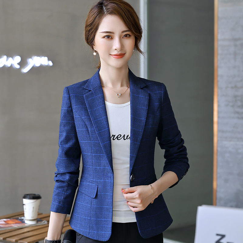 Autumn and winter women's professional jacket feminine 2020 new work plaid ladies blazer Female office small suit high quality