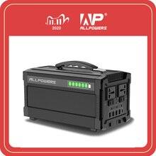 Allpowers estação portátil 220v, power bank, bateria portátil, 78000mah, gerador ac dc, saída múltipla, usb tipo c bateria