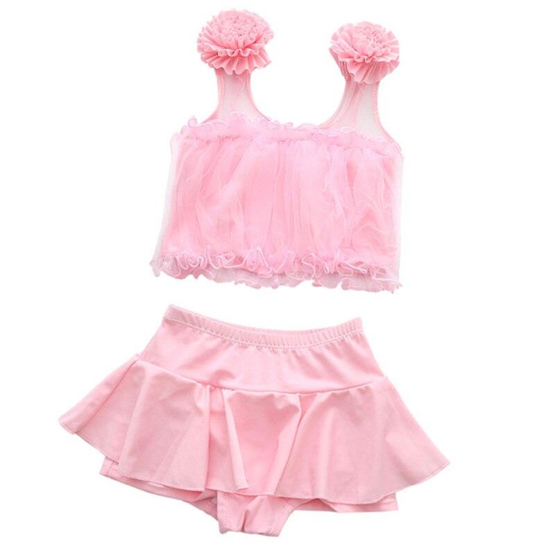Girl'S Swimsuit Big Boy Split Skirt-Tour Bathing Suit Boxer 3-12-Year-Old Cute Students Yi Bo Du KID'S Swimwear