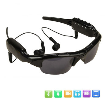 Sunglasses Camera with Bluetooth Headset Sports Video Recorder Polarized Lens Sun Glass 1080P Camcorder for Running Cycling