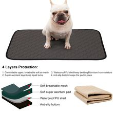 Washable Pet Diaper Mat Waterproof Reusable Training Pad Dog Car Seat Cover(China)