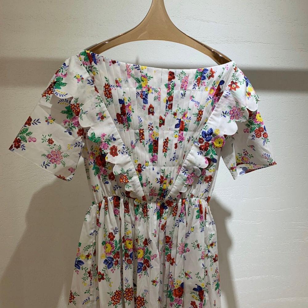 High-end Lapel Short Sleeve Long Dress Women 2020 Summer Fashion Lace Up High Waisted A-line Ruffles Dresses Summer Vestidos New