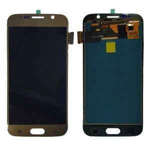 Image 2 - G920f Samsung LCD GALAXY S6 G920 G920F lcd ekran dokunmatik ekranlı sayısallaştırıcı grup için hiçbir çerçeve Samsung S6 TFT lcd ekran
