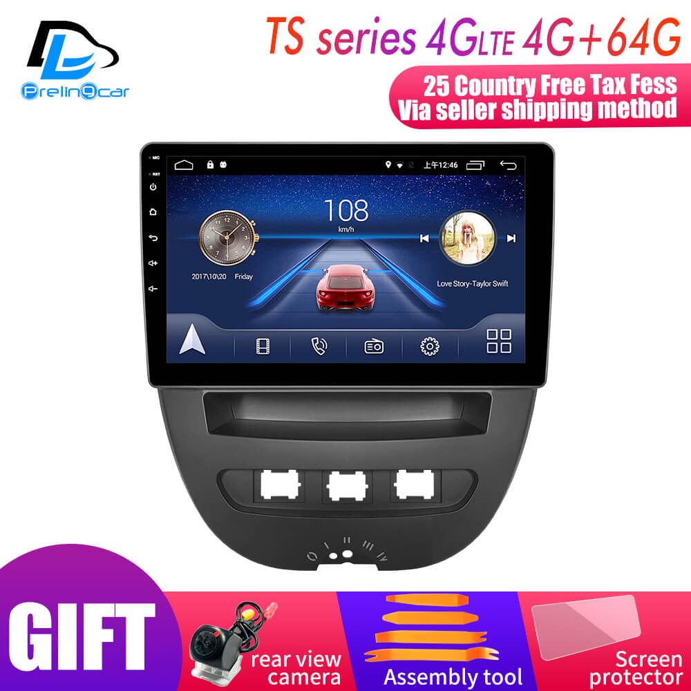 Android 9.0 System Car IPS Touch Screen Stereo For Peuget 107 Toyota Aygo Citroen C1 2005-2013 years Stereo