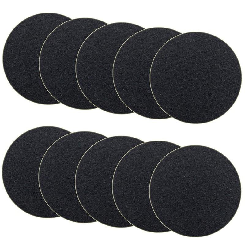 10-Pack угольный фильтр для кухонных компоста мусорных фильтров Замена компостное ведро заправка 7,25 дюймов, круглый