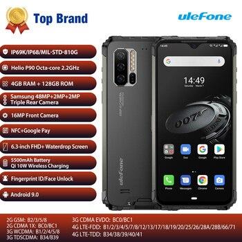 Перейти на Алиэкспресс и купить Android 9,0 мобильный телефон Ulefone Armor 7E 6,3 дюймHelio P90 Восьмиядерный 4 Гб 128 Гб Смартфон 5500 мАч Глобальный IP68 прочный мобильный телефон