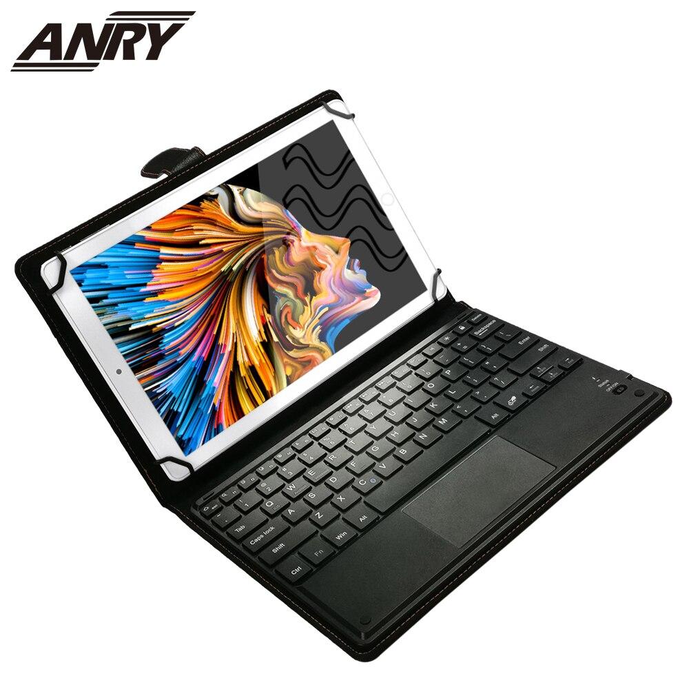 Anry tabuleta 10.1 pc do núcleo 4 gb + 64 gb do octa da chamada do telefone de android 10 polegadas 4g com teclado do toque cartão sim duplo wifi bluetooth