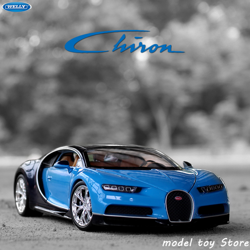 WELLY 1:24 Bugatti Chiron Car Sports Car Simulation Alloy Car Model Crafts Decoration Collection Toy Tools Gift