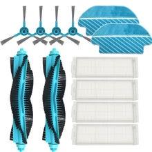 Hepa rolo de filtro escova mop almofadas pano para cocotec conga 3290 3490 3690 aspirador peças reposição escova lateral proscenic m7