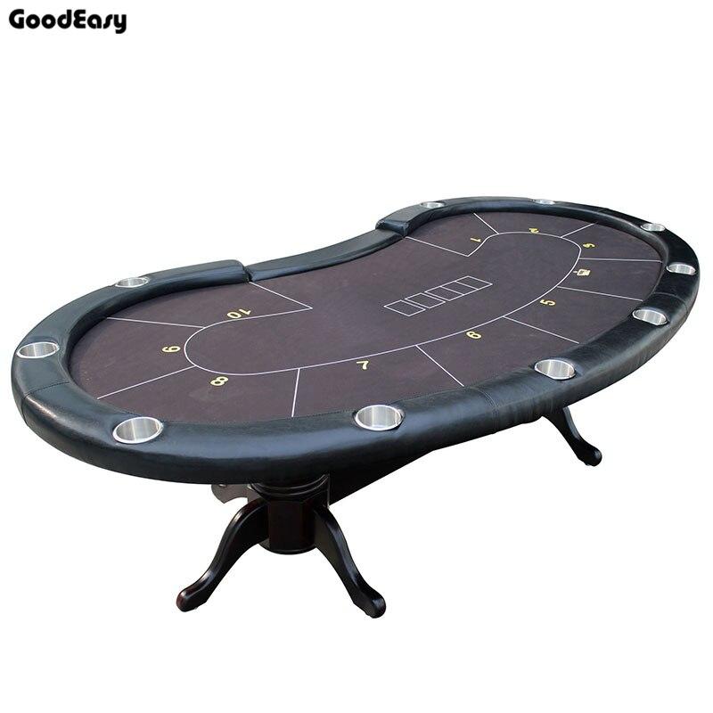 280*140cm 6 couleurs Casino Poker Table Texas Hold'em Baccarat carré Tbale avec 10 joueurs