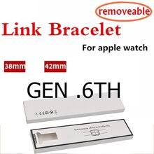 Pulseira de aço inoxidável para apple watch band 4 44mm 40mm tira de aço iwatch 5 4 3 banda 42mm 38mm 36l pulseira de metal