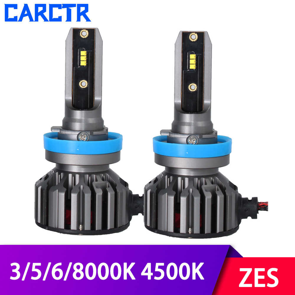 Universal LED Car Headlight H1 H3 H7 Led Lamp H11 9005 9006 9012 H4 Bulbs 3000K 4500K 5000K 6000K 8000K 60W IP68 ZES Car Lights