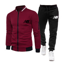 2 piece set brand tracksuit men zipper jacket sweatpants fitness gym tracksuits mens set cotton sport suits jogging track suits
