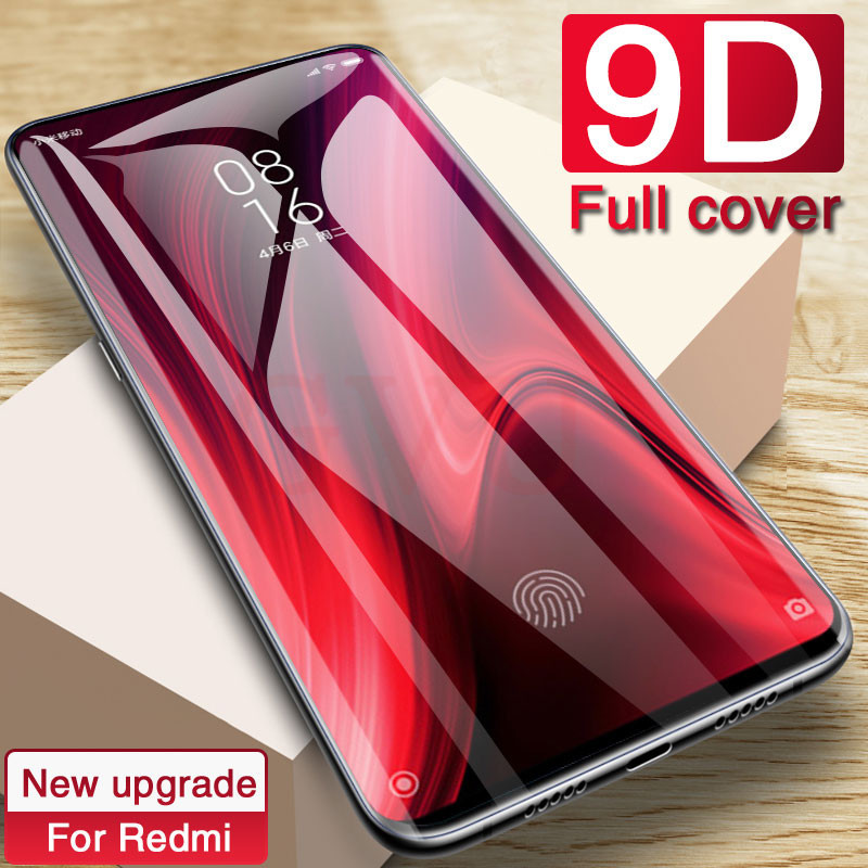 9D Protective Glass On The For Xiaomi Redmi Note 7 6 5 8 PRO Screen Protector For Redmi 6 PRO 6A Tempered Glass On Redmi K20 PRO