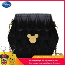 2019 New Disney Fashion Mickey Lock Buckle Shoulder Bag Casual Messenger Ladies Clutch PU Material Handbag DS-AA018