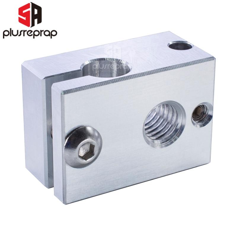 Ultra-precision V6 Heater Block For Sensor Cartridges For E 3D HOTEND Titan Extruder PT100 Sensor HT-NTC100K 3D Printer Parts