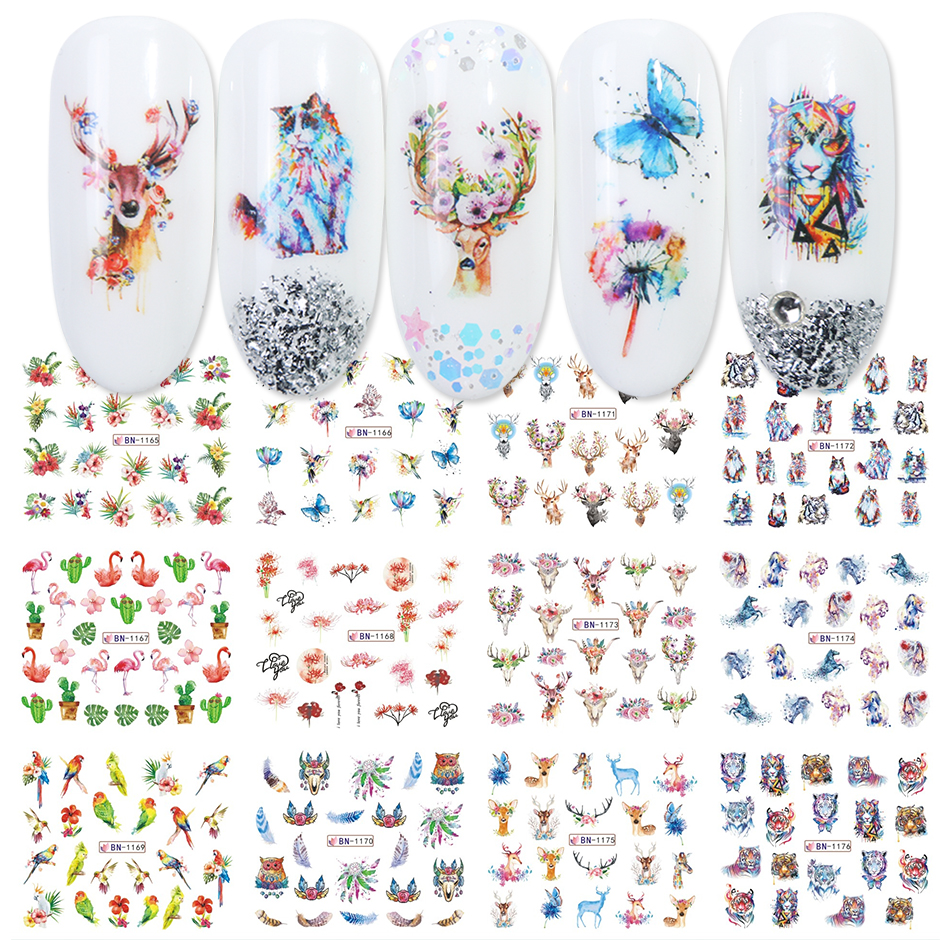 12pcs Valentines Manicure Love Letter Flower Sliders for Nails Inscriptions Nail Art Decoration Water Sticker Tips GLBN1489-1500 28