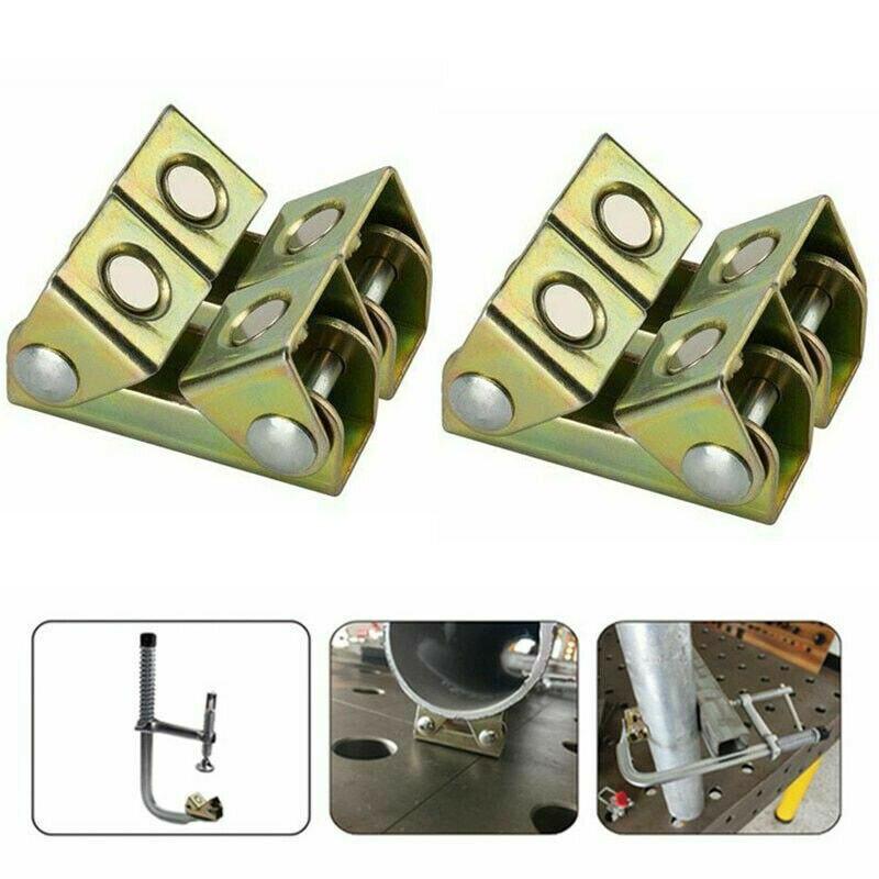 V Type Magnetic Welding Clamps Holder Suspender Fixture Adjustable V Pads BJ
