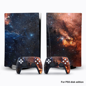 Image 3 - For PS5 Console Disk Edition Carbon Fiber Skin Decal Cover for PlayStation 5 Console Glaxy Sticker For PS5 Accessories