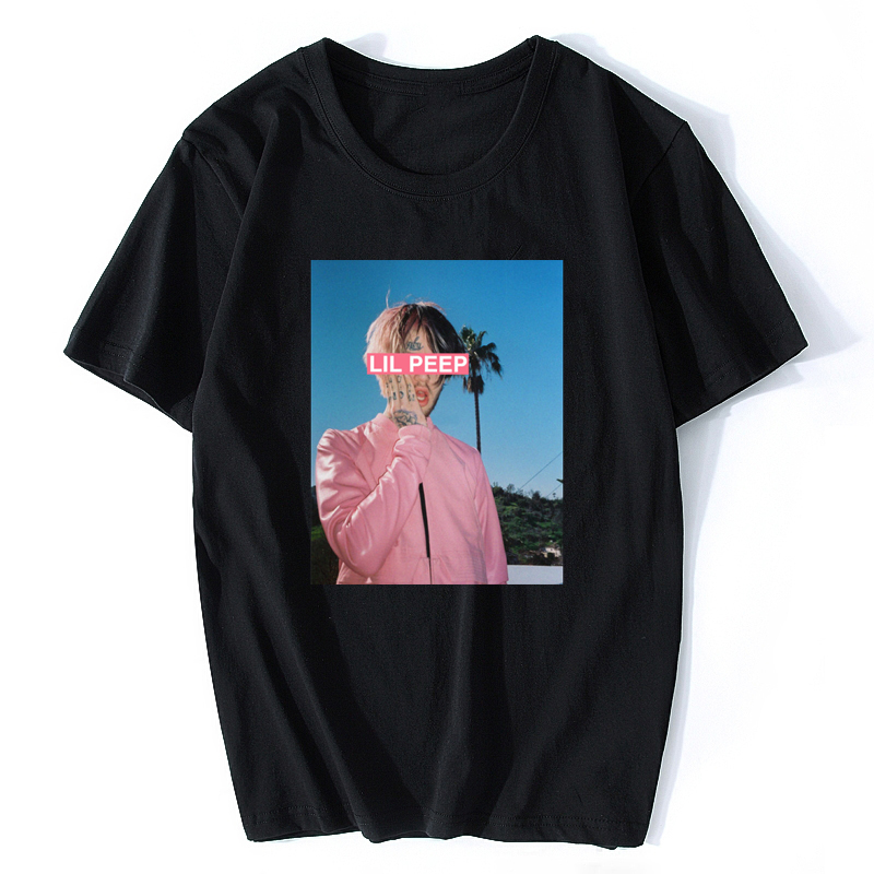 Hip Hop Man Lil Peep T Shirt Quality Comfortable Cotton T-Shirt Streetwear  Hip Hop O-Neck Tees Tops Vintage Aesthetic Clothes