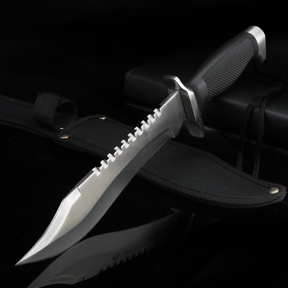 Multifunctional Outdoor Fixed Blade Hunting Knife Camping Survival Knife Self-defense Straight Knife