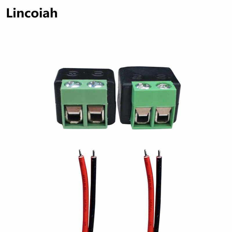 1 stücke Weibliche oder 1 stücke Männlichen dc-anschluss 2.1*5,5mm Power Jack Adapter Stecker Kabel Stecker für 3528/5050/5730 led streifen licht