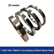 1 Roll 10m 18650 Li ion Battery Nickel Sheet Plate Nickel Plated Steel Belt Strip Connector
