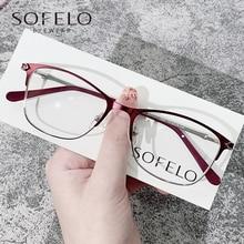 Fashion Myopia Optical Glasses Frame Women Prescription Eyeglasses Frame Ladies Red Stainless Steel Spectacles Frame Brand 2021