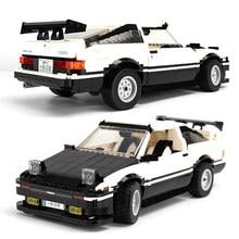 1234 sztuk miasto Sport wyścigi samochodowe klocki budowlane Creator Expert AE-86 zestaw klocków Model pojazdu dzieci DIY zabawki dla dzieci prezenty