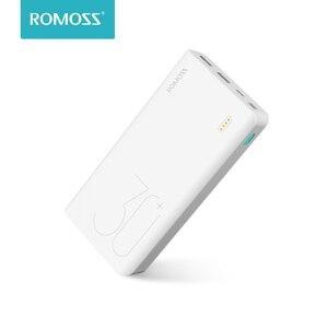 30000 мАч ROMOSS Sense 8 + power Bank портативный внешний аккумулятор с QC двухсторонняя Быстрая зарядка портативное зарядное устройство для телефонов пл...