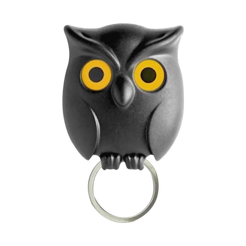 1PCS Black Night Owl Magnetic Wall Key Holder Magnets Keep Keychains Key Hanger Hook Hanging Key It Will Open Eyes(China)