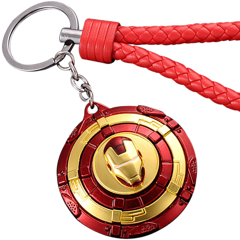Creative Shield Men And Women Hammer Mask Keychain Thor Car Keychain Pendant Alloy Mask Key Chain Key Case for Car     - title=