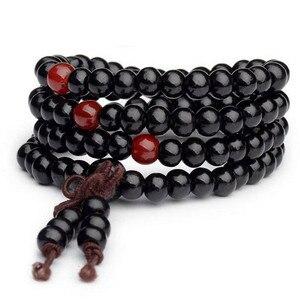 Image 4 - 1pc Sandalwood Buddhist Meditation Prayer Bead Mala Bracelet