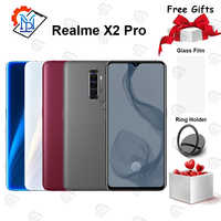 Original Realme X2 Pro Mobile Phone 6.5 inch 90Hz Fluid Screen 12GB+256GB Snapdragon 855 Plus Camera 64.0MP NFC Smartphone