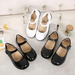 2020, кожаные туфли для девочек, черные детские туфли для выступлений, осень и зима, новая классическая обувь для принцессы, обувь для начально...