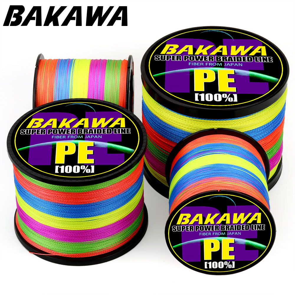 BAKAWAPESCA carp fly cord braided fishing accessories PESCA pe everything colored strands 150M 300M 4 Strand 8 Strand 120LB 18LB