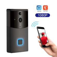 Tuya Smartlife akıllı 1080P HD kablosuz WiFi kapı zili görüntülü kapı telefonu görsel interkom yağmur geçirmez kapı kamera PIR hareket dedektörü