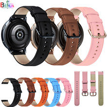 Correas de cuero de colores para reloj Samsung Galaxy watch active 2, pulsera inteligente de 40mm y 44mm para Garmin Venu sq, 20mm