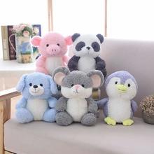 25cm Cute Panda Penguin Soft Plush Toys Small Pig Dog Stuffed Animal Doll Children Toy Girls Birthday Gift
