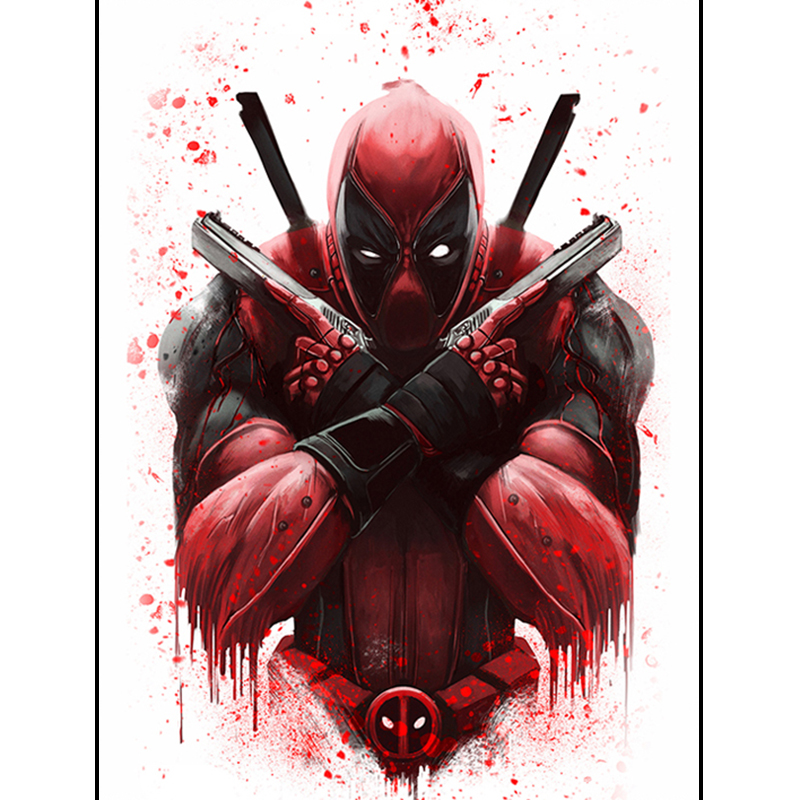 Marvel Heroes Deadpool diamond Embroidery diy diamond painting mosaic 5d cross stitch painting by numbers Sticker(China)