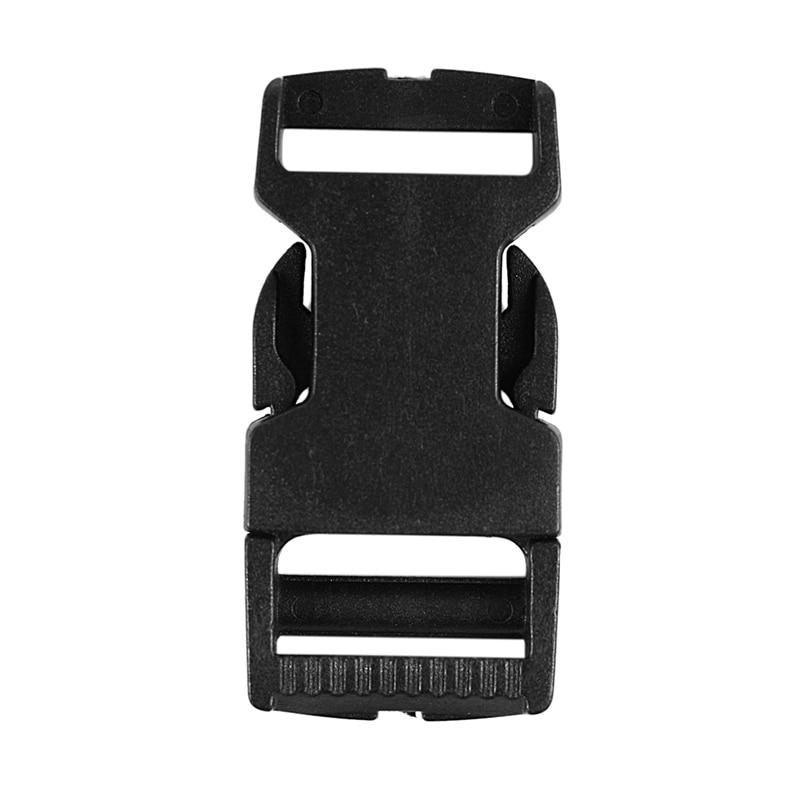 10pcs Plastic Buckles Clips Paracord For Paracord Bracelet Black Strap Clasp