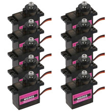 10PCs MG90S Micro Metal Gear 9g Servo for RC Plane Helicopter Boat Car 4.8V- 6V