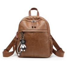 Fashion Small Backpacks PU Leather Women Mochila Feminina Schoolbags Travel Shoulder Bag for Teenage Girls