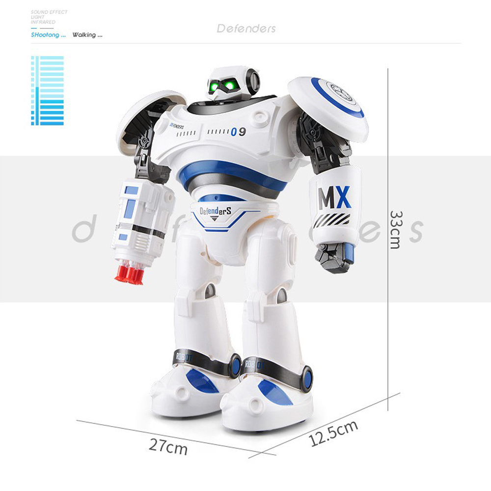 SHAREFUNBAY AD Police Files Programmable Combat Robot and Intelligent RC Defender for Kids 2