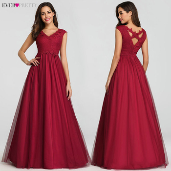 Vintage Evening Dresses Long Ever Pretty A-Line V-Neck Sleeveless Lace Sexy Evening Gowns For Women EZ07799BD Robe De Soiree