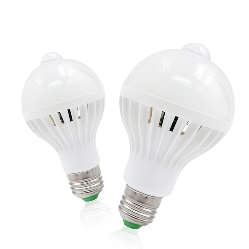 PIR Motion Sensor Lamp 9w Led E27 Bulb Auto Smart Led Infrared Body Lamp Light
